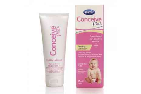 Groupon Goods Global GmbH - Conceive Plus Tube Fertility Lubricant Transparent 75ml - Save 19%
