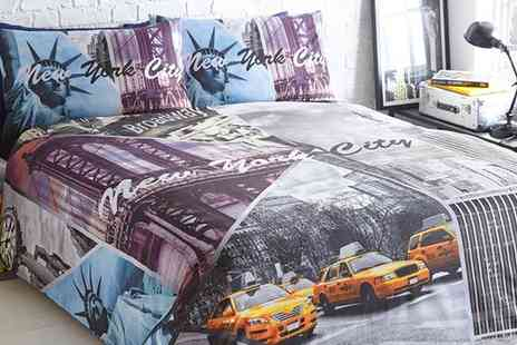 Groupon Goods Global GmbH - USA Themed Duvet Cover Set in Choice of Size - Save 63%
