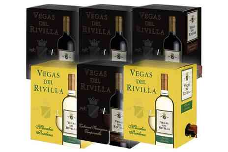 Karpe Deal SL.- Seven Boxes of Vegas Del Rivilla Red and White Wine With Free Delivery - Save 20%