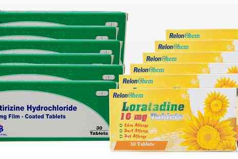 Innox Trading - Loratadine or Cetirizine Six Month Supply Allergy and Hayfever Tablets - Save 0%