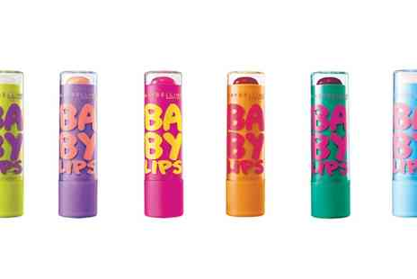 Groupon Goods Global GmbH - Four or Six Maybelline Baby Lips Lip Balms - Save 67%