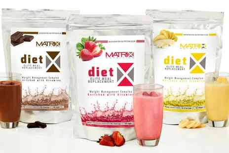 Groupon Goods Global GmbH - Matrix Meal Replacement Shakes Three or Six Week - Save 68%