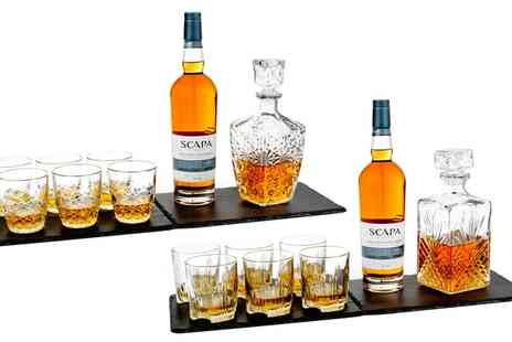 Groupon Goods Global GmbH - One or Two Bormioli Rocco Selecta or Dedalo Seven Piece Whisky Sets - Save 80%