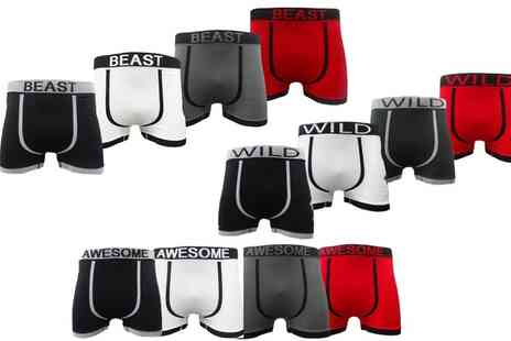 Groupon Goods Global GmbH - Six Pack of Mens Seamless Boxer Shorts - Save 0%