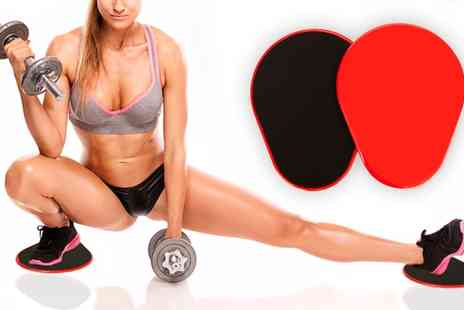 Groupon Goods Global GmbH - Two Piece Exercise Core Slider Fitness Grips - Save 54%