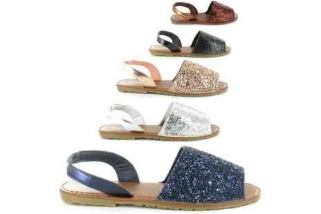 Groupon Goods Global GmbH - Womens Glitter Sandals - Save 0%