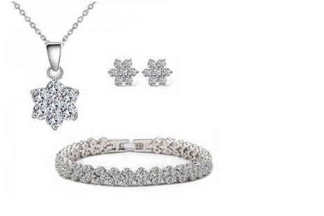 Fakurma - Cubic zirconia jewellery set - Save 93%