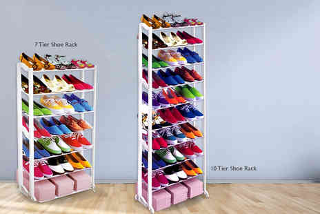 Groundlevel.co.uk - Seven tier shoe rack or 10 tier rack - Save 85%