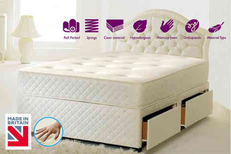 The Sleep People - Single or small single memory sprung mattress - Save 86%