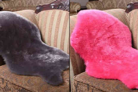 Bazaar me - Soft Faux Sheepskin Chair Cover in 2 Sizes, 4 Colours - Save 71%
