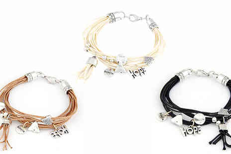 Romatco - Hope Charm Bracelet in 3 Colours - Save 84%