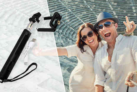 AMS Global - Bluetooth Selfie Stick with Power Bank - Save 0%