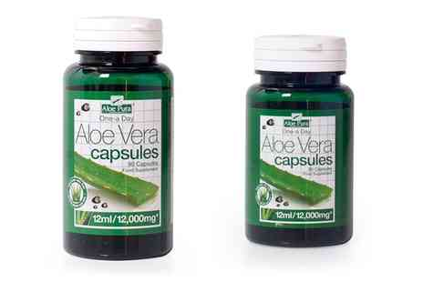 Groupon Goods Global GmbH - High Strength Aloe Vera Capsules 30 or 90 - Save 34%