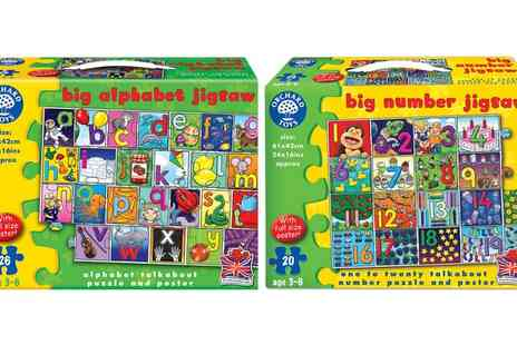 Groupon Goods Global GmbH - Orchard Toys Big Alphabet or Big Numbers Jigsaw Puzzle or Both - Save 15%