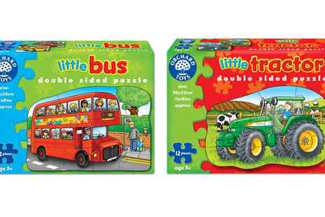 Groupon Goods Global GmbH - Orchard Toys Little Tractor and Little Bus Puzzles Two Pack - Save 14%