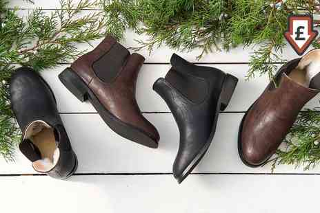Groupon Goods Global GmbH - Mens Chelsea Boots Lined with Merino Wool Include Free Delivery - Save 73%