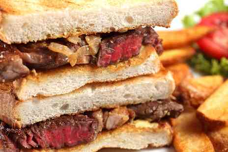 The Wick - Steak Sandwiches with Bottle of Prosecco for Two or Four - Save 0%