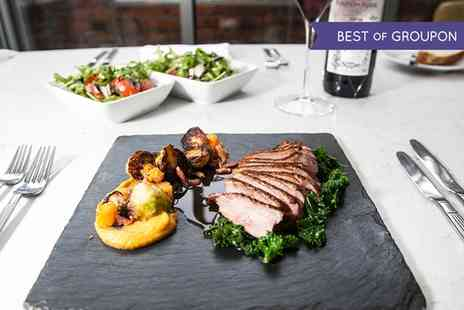 The Bridge Street Lounge & Grill - Two or Three Course Meal with a Glass of Bellini for Two - Save 0%