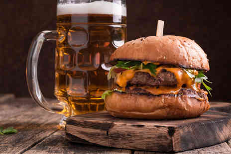 The Lincoln Hotel - Two burger meals and two beers for two people - Save 52%