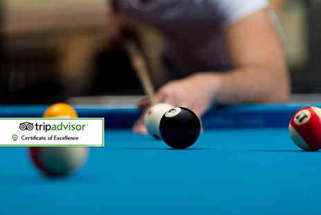 Spot White - Two hours of snooker, pool or ping pong for two with a burger or nachos, side and drink each - Save 58%