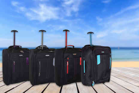 Pearl Info - Cabin approved luggage suitcase choose from four colours - Save 81%