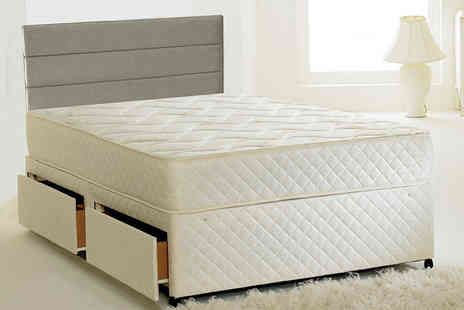 The Sleep People - Small double or double diamond quilted orthopaedic Bonnell sprung mattress - Save 84%