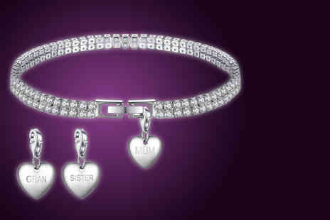 Your Ideal Gift - Double layer charm bracelet choose from your choice of charm - Save 89%