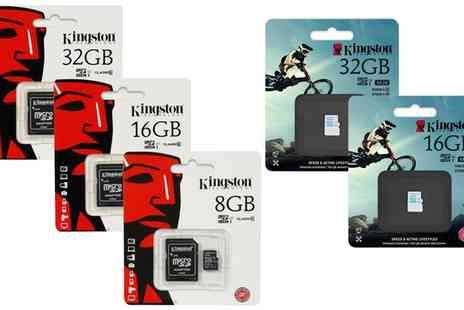 Groupon Goods Global GmbH - 8GB, 32GB Kingston Micro SD Card Class 4 or 10 with Adaptor,  microSD Action Camera Card - Save 67%
