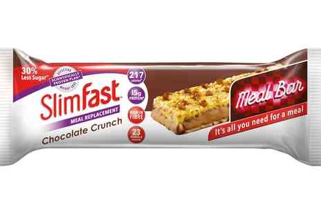 Groupon Goods Global GmbH - 16 SlimFast Chocolate Crunch Meal Replacement Bars - Save 50%