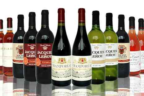 The Vineyard Club - 12 Bottle Mixed Case French Wine With Free Delivery - Save 29%