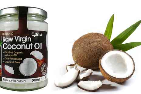Groupon Goods Global GmbH - 500ml Organic Raw Virgin Coconut Oil - Save 17%