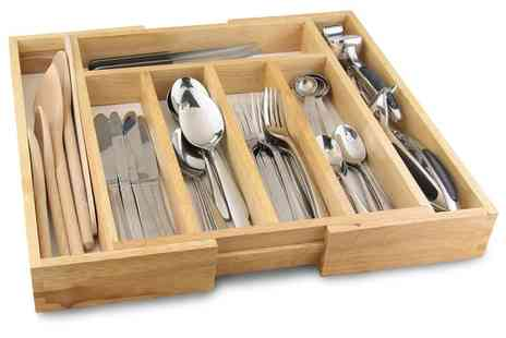 Groupon Goods Global GmbH - One or Two Apollo Rubberwood Expandable Cutlery Trays - Save 55%
