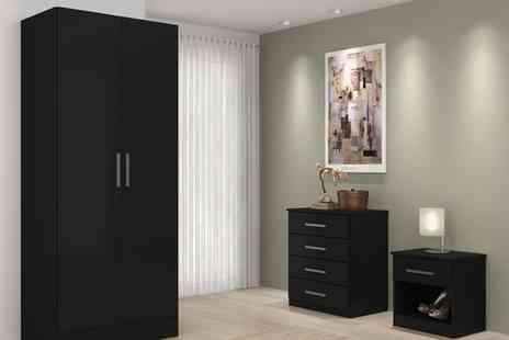 Groupon Goods Global GmbH - High Gloss Bedroom Furniture in Choice of Colour With Free Delivery - Save 69%