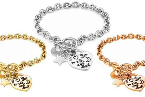 Groupon Goods Global GmbH - I Love You to the Moon and Back Bracelet - Save 73%