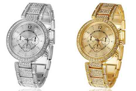 Groupon Goods Global GmbH - Womens Belinia Watch with Crystals from Swarovski - Save 60%