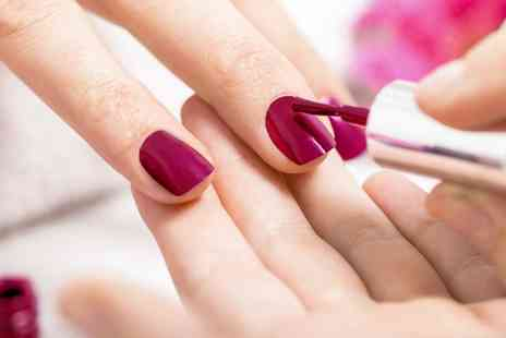Salon Seven - File and Shellac Polish on Hands, Feet or Both - Save 61%