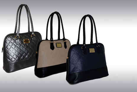 Pearl Info - Quilted handbag choose from three colours - Save 71%