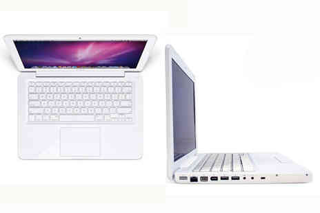 Portable Universe - 13 inch white Apple MacBook with a Core 2 Duo 2GHz processor and a 160GB hard drive - Save 54%
