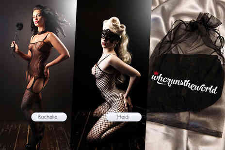 Who Runs the World - Sexy black body stocking choose from seven designs - Save 72%
