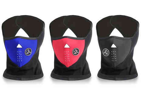 Ckent - Ultra warm face and neck mask keeping you warm in blue, black & red - Save 60%