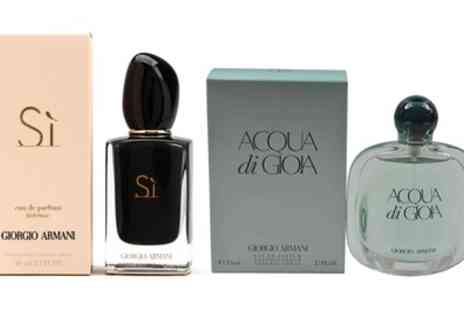 Groupon Goods Global GmbH - Giorgio Armani Fragrance in Choice of Scent With Free Delivery - Save 20%