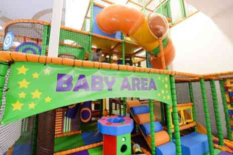 Rock Up - Soft Play Entry for Two or Four Children with a Hot Drink for Two or Four Adults - Save 52%