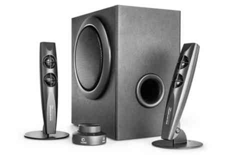 Groupon Goods Global GmbH - Wavemaster Stax 2.1 Speaker System with Remote Include Free Delivery - Save 0%