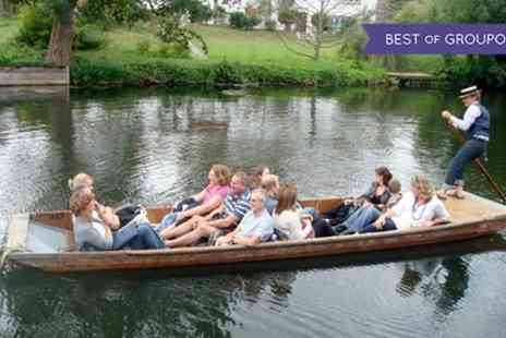 Let's Go Punting - 45 Minute Chauffeur Guided Cambridge Punting Shared Tour for One, Two or Four - Save 0%
