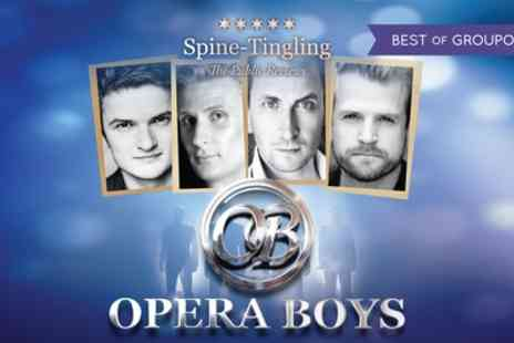 The Opera Boys - Two One admission tickets to see The Opera Boys on 31 March - Save 32%