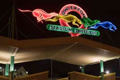 Sheffield Sports Stadium - Greyhound Race Night with a Racecard, Two Drinks and One Bet for Up to Four - Save 0%