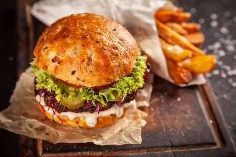 Chequers Bar and Grill - Burger meal for two people plus a glass of wine each - Save 50%