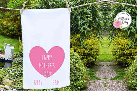 Treats on Trend - Personalised Mothers Day tea towel - Save 70%