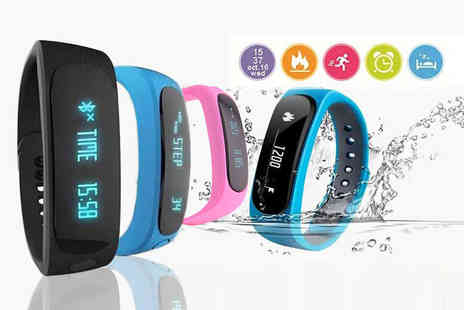 TLD Marketing - Twelve In One Bluetooth fitness tracker choose from black and blue - Save 91%