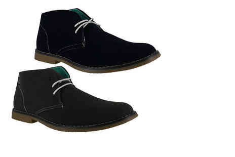 Shoe Station - Pair of mens casual lace up faux suede desert boots choose from two colours - Save 50%
